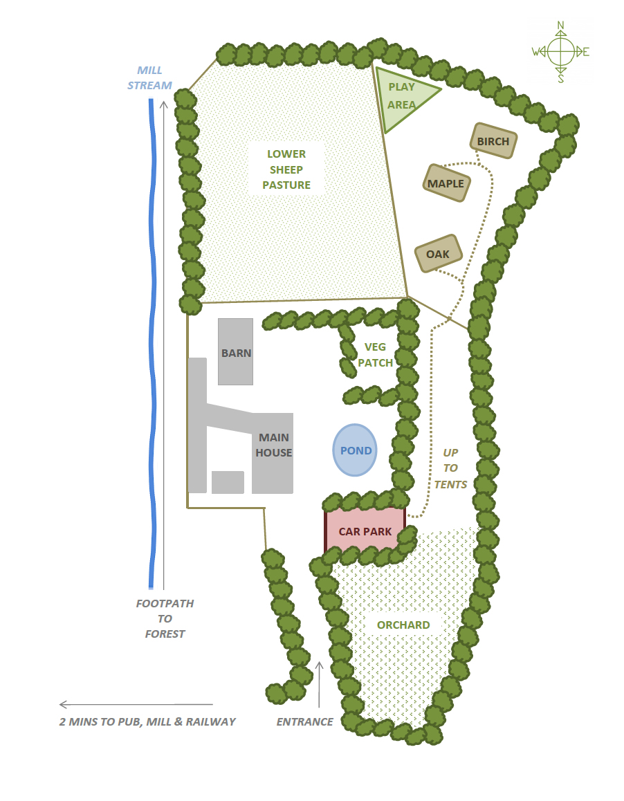 Valleyside Escapes - Glamping Site Layout