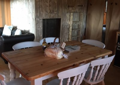 Birch Glamping Tent - Dining Area