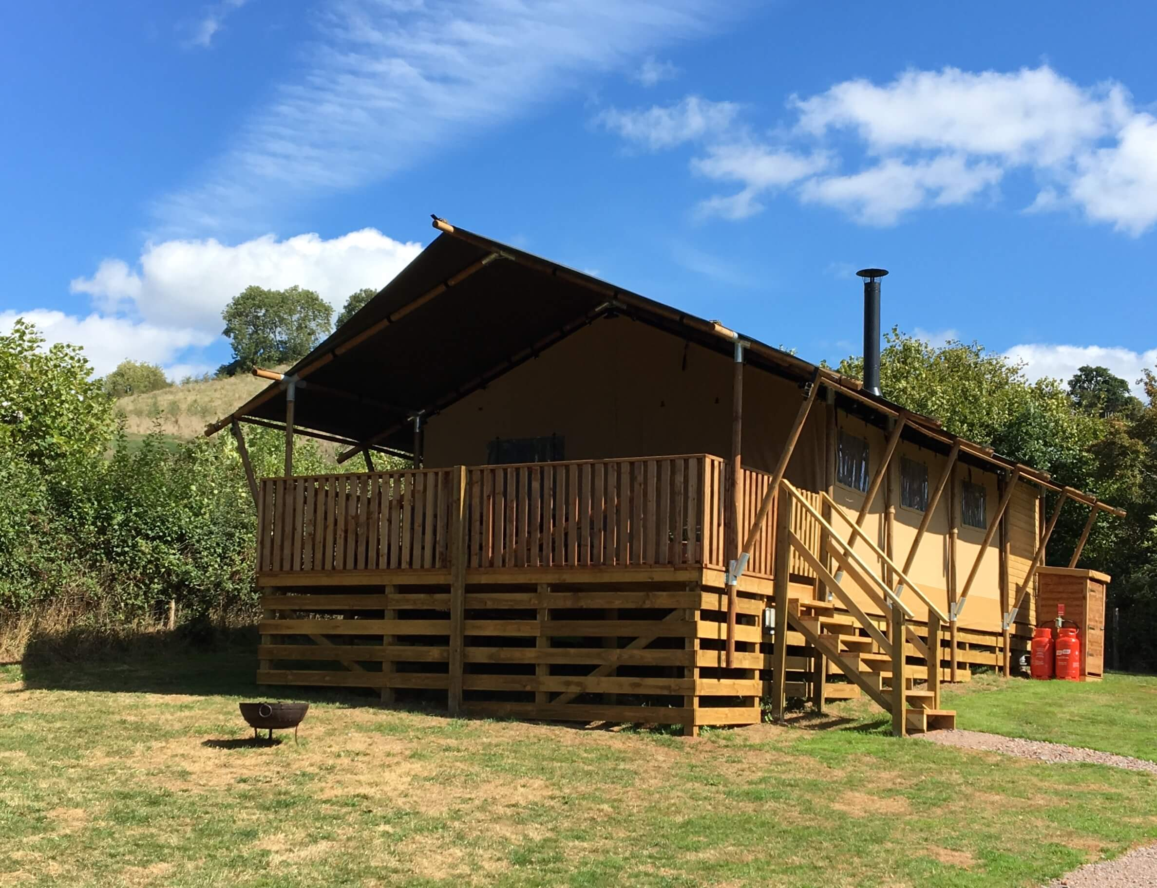 Our Birch Glamping Safari Tent