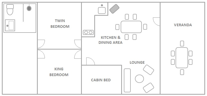 Internal Layout of our Glamping Safari Tents