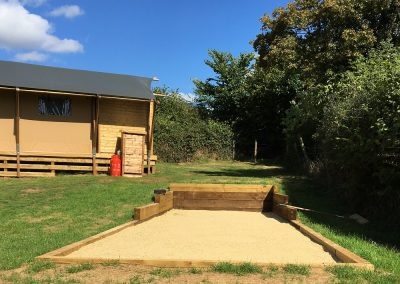 Boules Court at Valleyside Escapes - Glamping Site in Devon