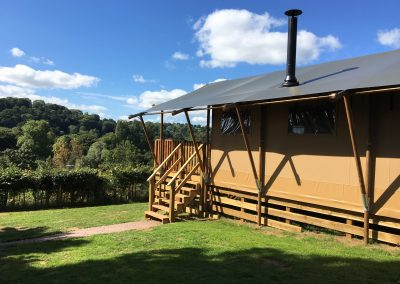 Oak Glamping Tent & View of the Valley