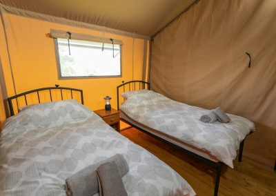 Birch glamping tent - twin room
