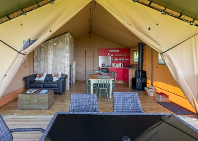Maple glamping tent interior