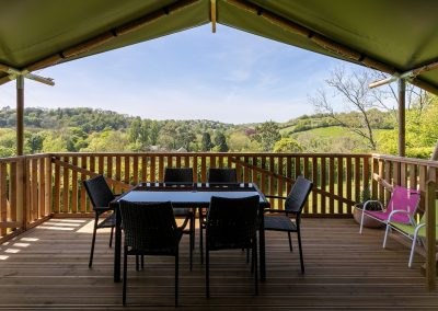 Maple glamping tent_view from veranda